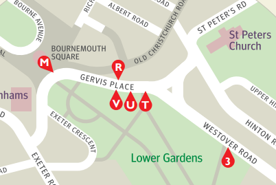 Image of a map of the stand changes at Bournemouth Square