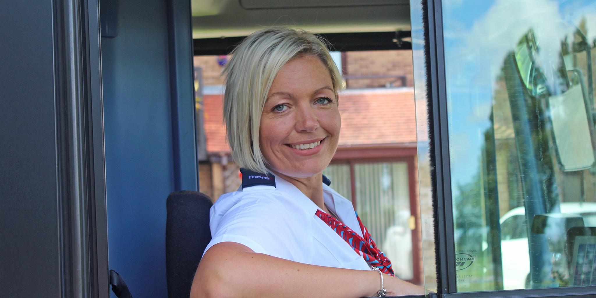 Photo of female morebus driver