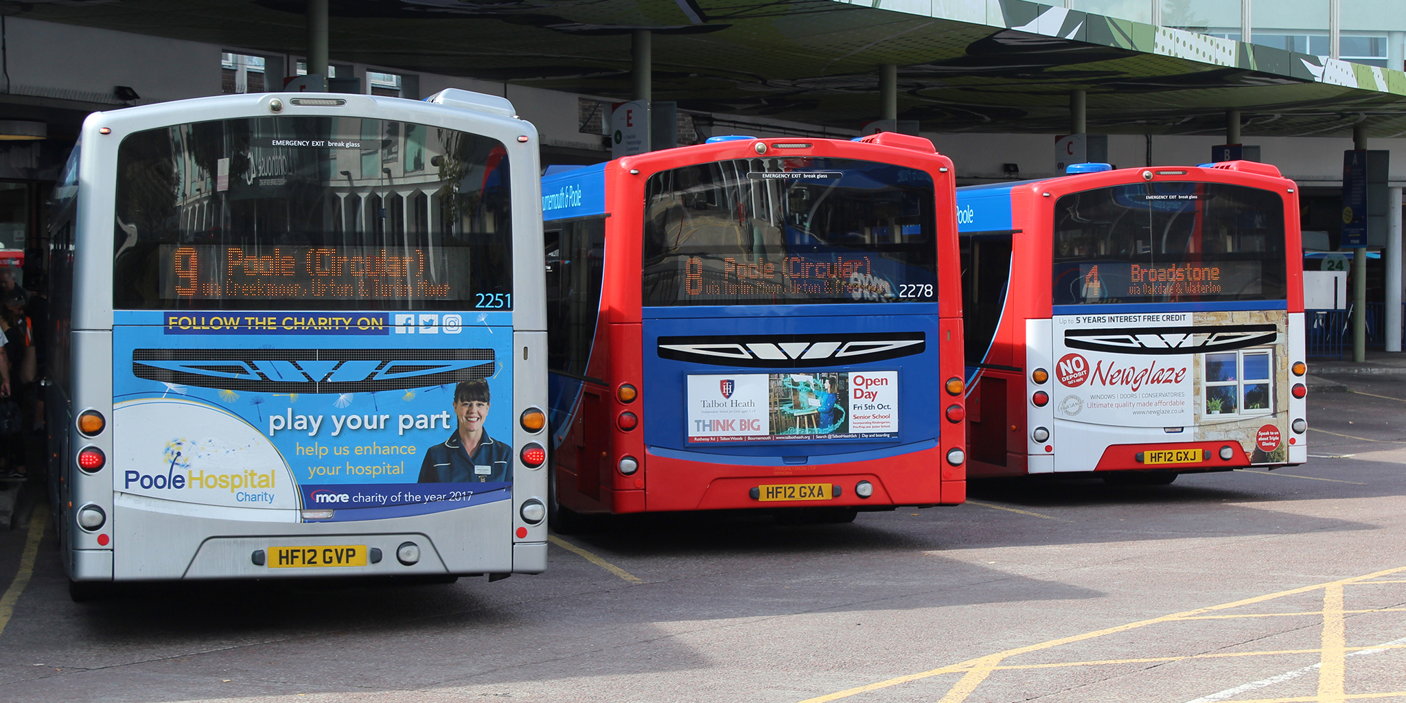 Photo of morebus vehicles displaying third-party adverts