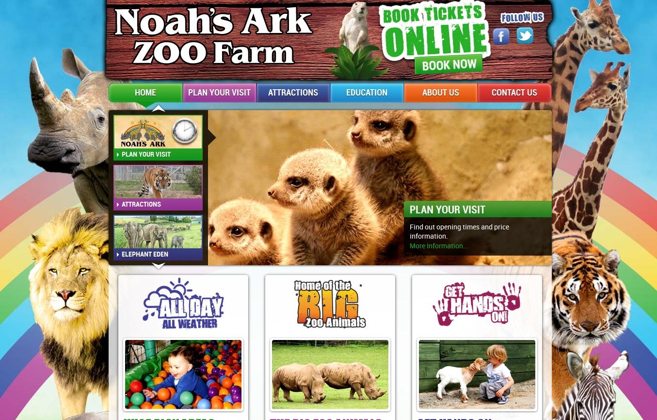 New Noahs' Ark Zoo Website