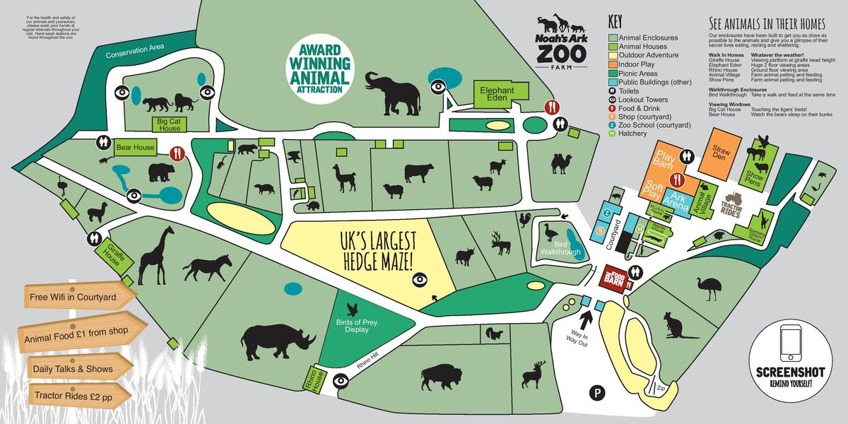 Map of Noah's Ark Zoo Farm