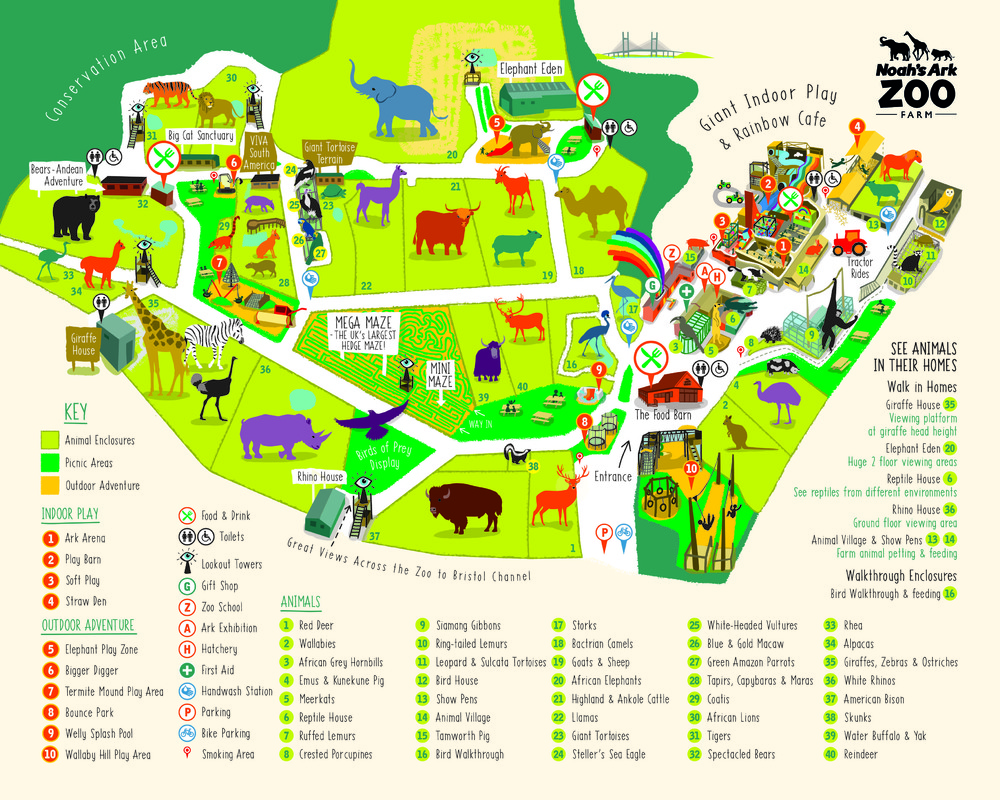 Illustrated Zoo Map