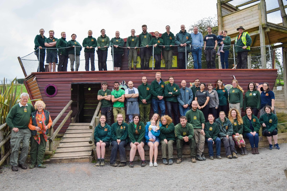 All of the staff at Noah's Ark Zoo Farm in a team photo