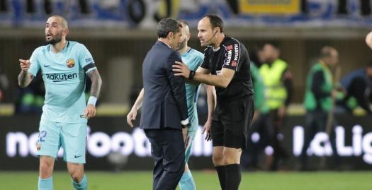 ואלוורדה מוחה בפני השופט מתאו לאוס (La Liga)