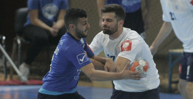 נבחרת ישראל מול יוון בכדוריד (באדיבות איגוד הכדוריד היווני, intime sports photo agency/giannis moisi