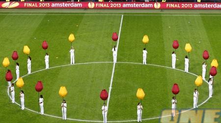 הטקס באמסטרדם ארינה לפני פתיחת הגמר (רויטרס)