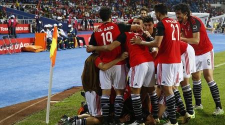 שחקני מצרים חוגגים (רויטרס)