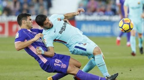 אסקיאל מוניוס מתקל את לואיס סוארס (La Liga)