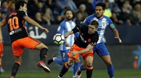 דני פארחו במאבק על הכדור (La Liga)