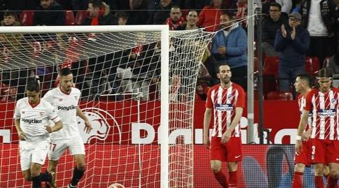 שחקני סביליה לאחר השער (La Liga)