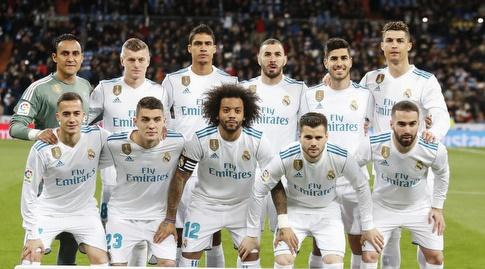 שחקני ריאל בתמונה המסורתית (La Liga)