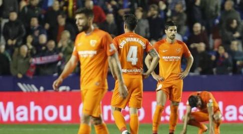 שחקני מלאגה מאוכזבים מירידת הליגה (La Liga)