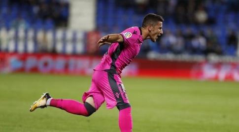 בארדי חוגג את השער (La Liga)