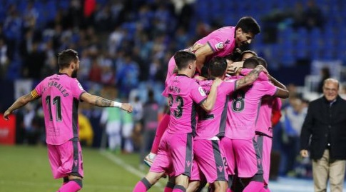 שחקני לבאנטה בטירוף אחרי השער השלישי (La Liga)