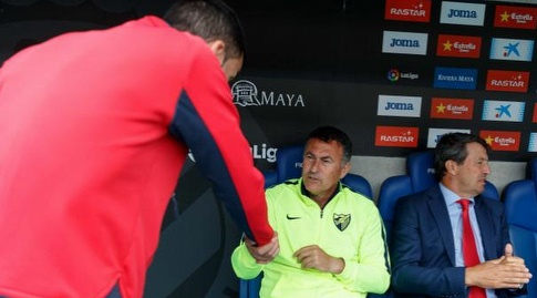 מאמני שתי הקבוצות לפני פתיחת המשחק (La Liga)