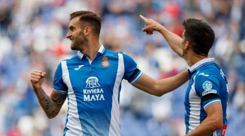 ג'רארד מורנו ולאו בפטיסטאו חוגגים (La Liga)