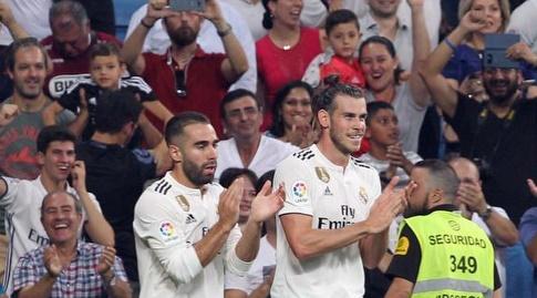 דניאל קרבחאל וגארת' בייל חוגגים (La Liga)