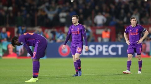 שחקני ליברפול מאוכזבים בסיום (רויטרס)