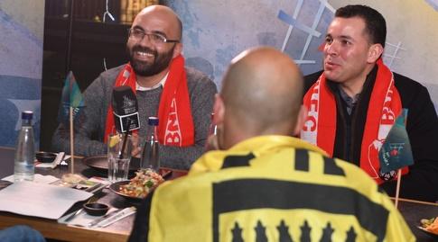 מפגש האוהדים במסעדת ג'פניקה שבכרמיאל (באדיבות מנהלת הליגה)