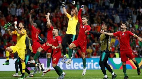 שחקני פורטוגל מאושרים (רויטרס)