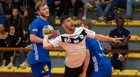 יואב למברוזו במדי נבחרת ישראל (צילום: מאריו מוריירה, איגוד הכדוריד) (מערכת ONE)