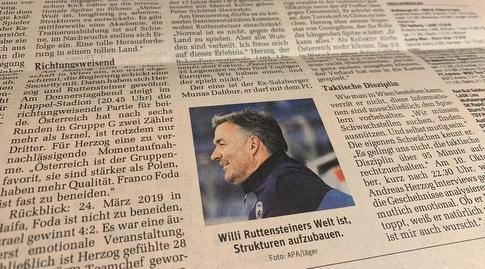ווילי רוטנשטייינר בעיתון באוסטריה (מערכת ONE)
