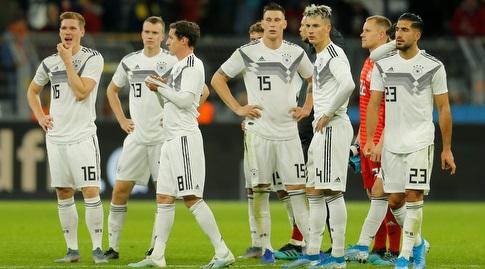 שחקני גרמניה מאוכזבים בסיום (רויטרס)