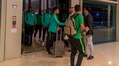 שחקני נבחרת ערב הסעודית במעבר הגבול (אינסטגרם)