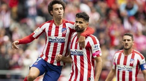 דייגו קוסטה חוגג עם ז'ואאו פליקס (La Liga)