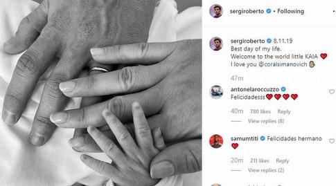 הפוסט של סרג'י רוברטו (אינסטגרם)