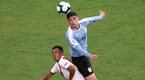 פדריקו ואלוורדה במדי אורוגוואי (רויטרס)