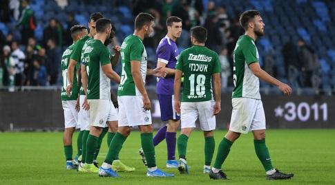 שחקני מכבי חיפה מאוכזבים (עמרי שטיין)