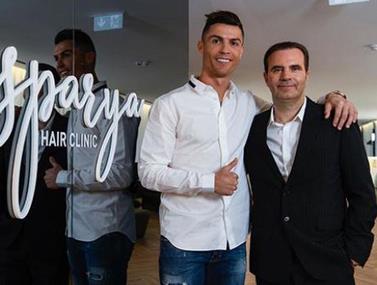 רונאלדו מגיע לאירוע ההשקה של העסק במדריד