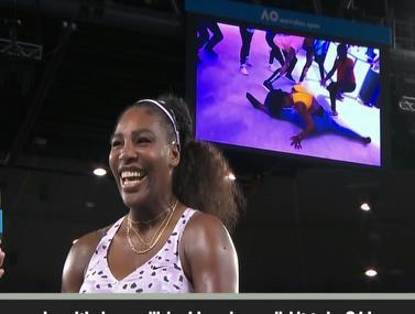 כוכבת הטניס מראה יכולות בריקוד