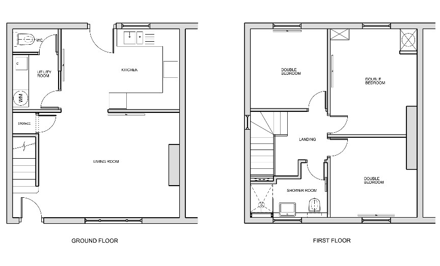London 3 bed semi detached house on bisson road e15 for House plans semi detached