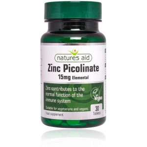 Natures Aid Zinc Picolinate 15mg – (30) Tablets