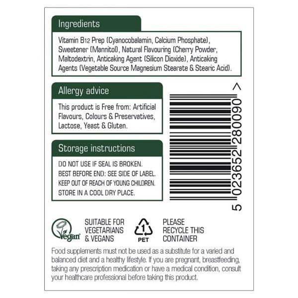 Natures Aid Vitamin B12 Sublingual Tablets (90)