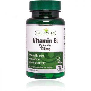 Natures Aid Vitamin B6 100mg – (100) Tablets
