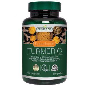 Natures Aid Turmeric 8200mg (High Potency) Capsules (60)