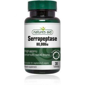 Natures Aid Serrapeptase 80,000IU – (30) Tablets