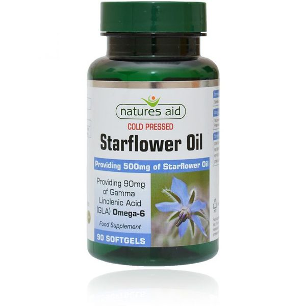 Natures Aid Starflower Oil 500mg Softgels (90)
