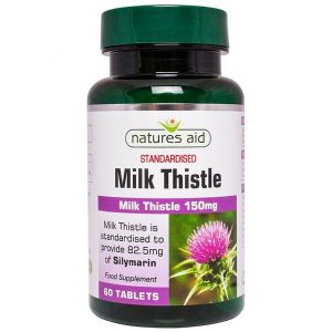 Natures Aid Milk Thistle 150mg – (60) Tablets
