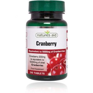 Natures Aid Cranberry 200mg Tablets (30)
