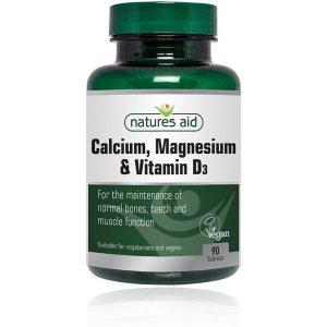 Natures Aid Calcium, Magnesium & Vitamin D3 Tablets (90)