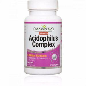 Natures Aid Acidophilis Complex 5 Billion Capsules (60)