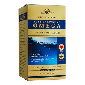 Solgar Wild Alaskan Full Spectrum Omega Softgels (120)