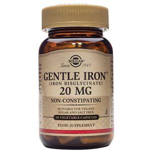 Solgar Gentle Iron 20mg Capsules (90)