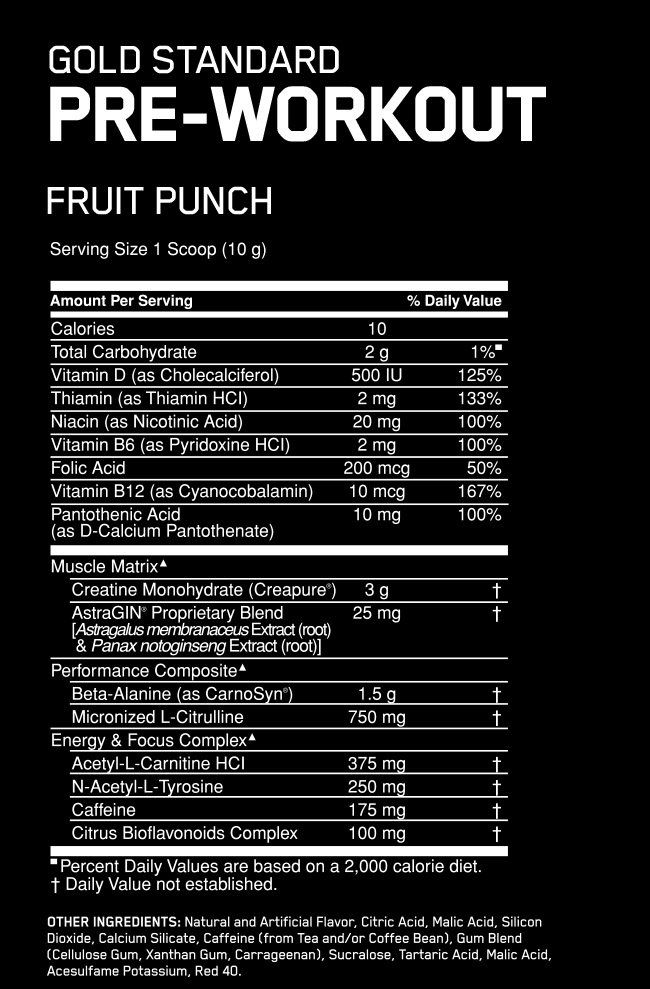 Optimum Nutrition Gold Standard Pre-Workout Pharmhealth Pharmacy