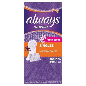 Always Dailies Single Normal Fresh Scent Panty Liners (20's)