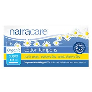 Natracare Organic Cotton Tampons with Applicator – Super